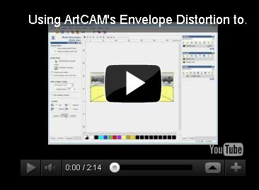 ArtCAM envelope disortion