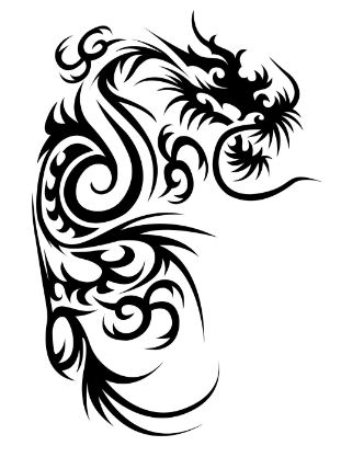 Free dragon tattoo vector