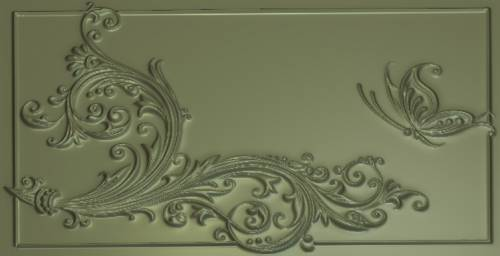 Free Decor with butterfly relief