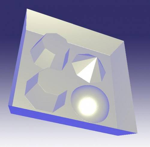 Free relief, 3D Test