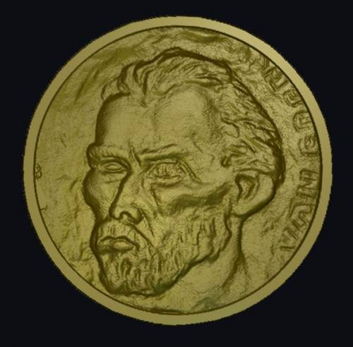 Free Van Gogh plaque relief