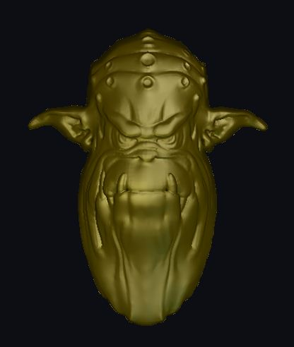Free Ogre Head) relief