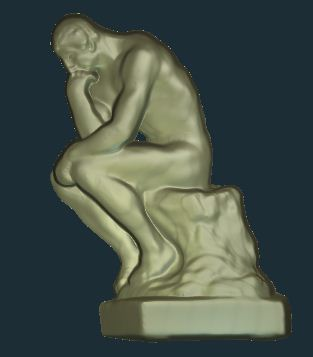 Free Michelangelo The Thinker relief