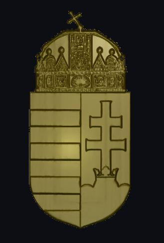 Free Hungarian crest relief