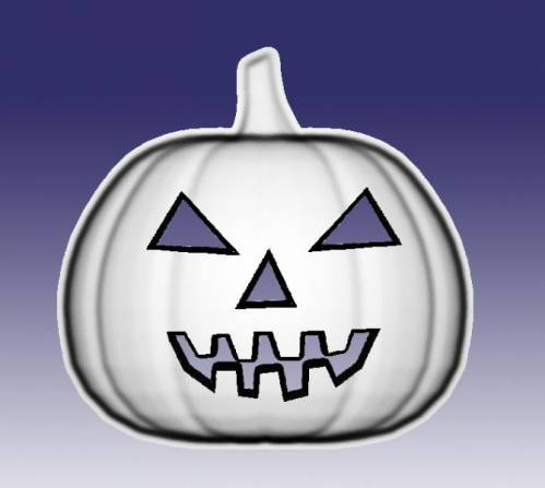 Free relief Halloween pumpkin