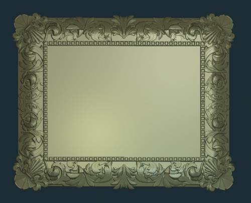 Free relief, Frame with Leafs