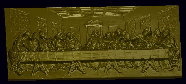Last supper relief